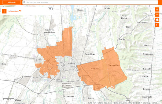 carte-fibre-optique-tarbes-orange